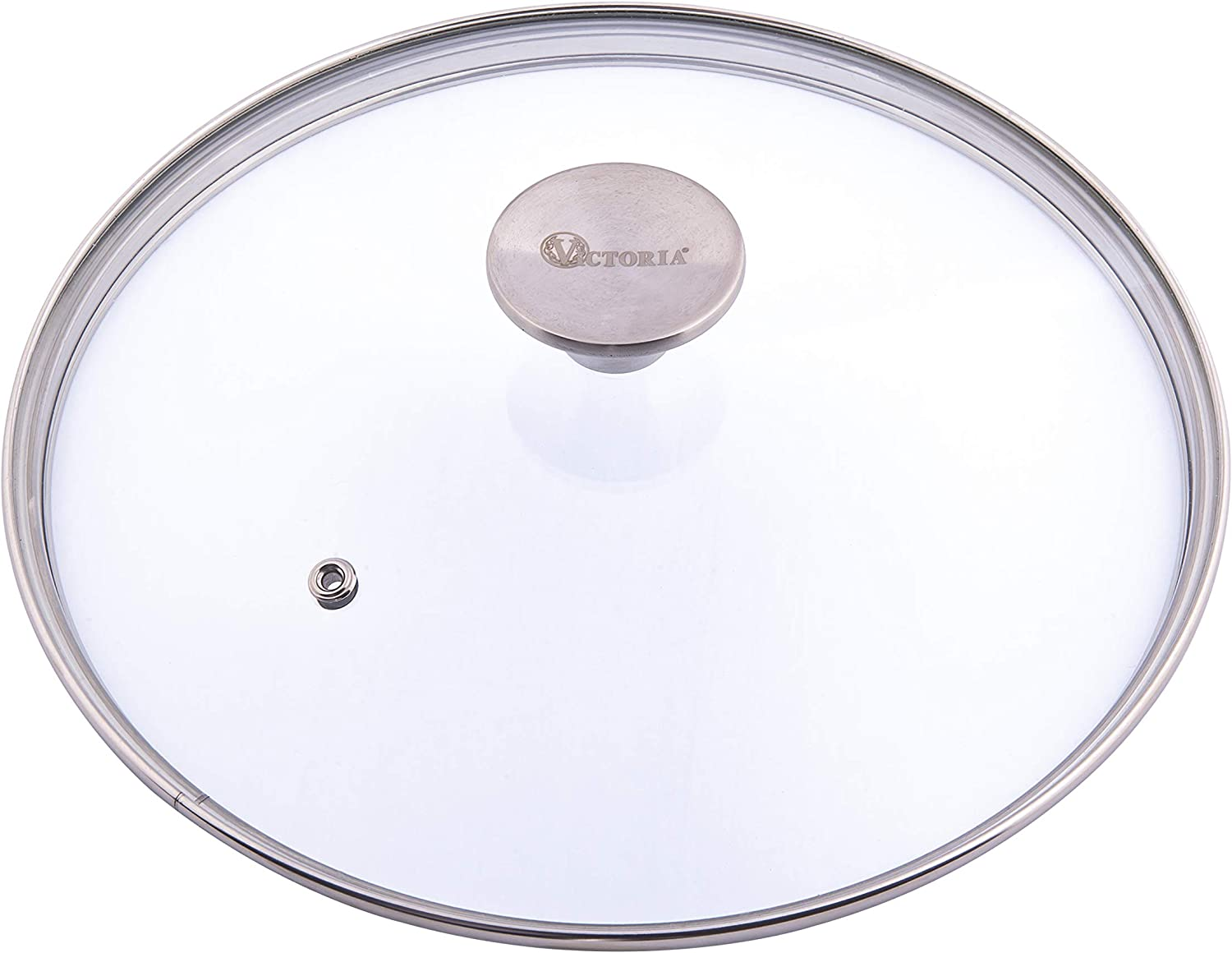 Victoria Glass Lid for 10 Inch Cast Iron Skillet, Frying Pan Lid with Stainless Steel Air Flow Knob