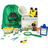 Moody Goat 19 - Pcs Outdoor Explorer Gear Play Set For Kids – Junior Adventurer Equipment Kit For Children – Exploration Toys With Binoculars, Bug Catcher, Magnifying Glass & Backpack