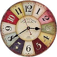 Reloj de Pared de Madera de la Vendimia,30cm