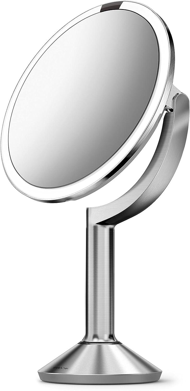 acciaio inox spazzolato simplehuman specchio con sensore trio