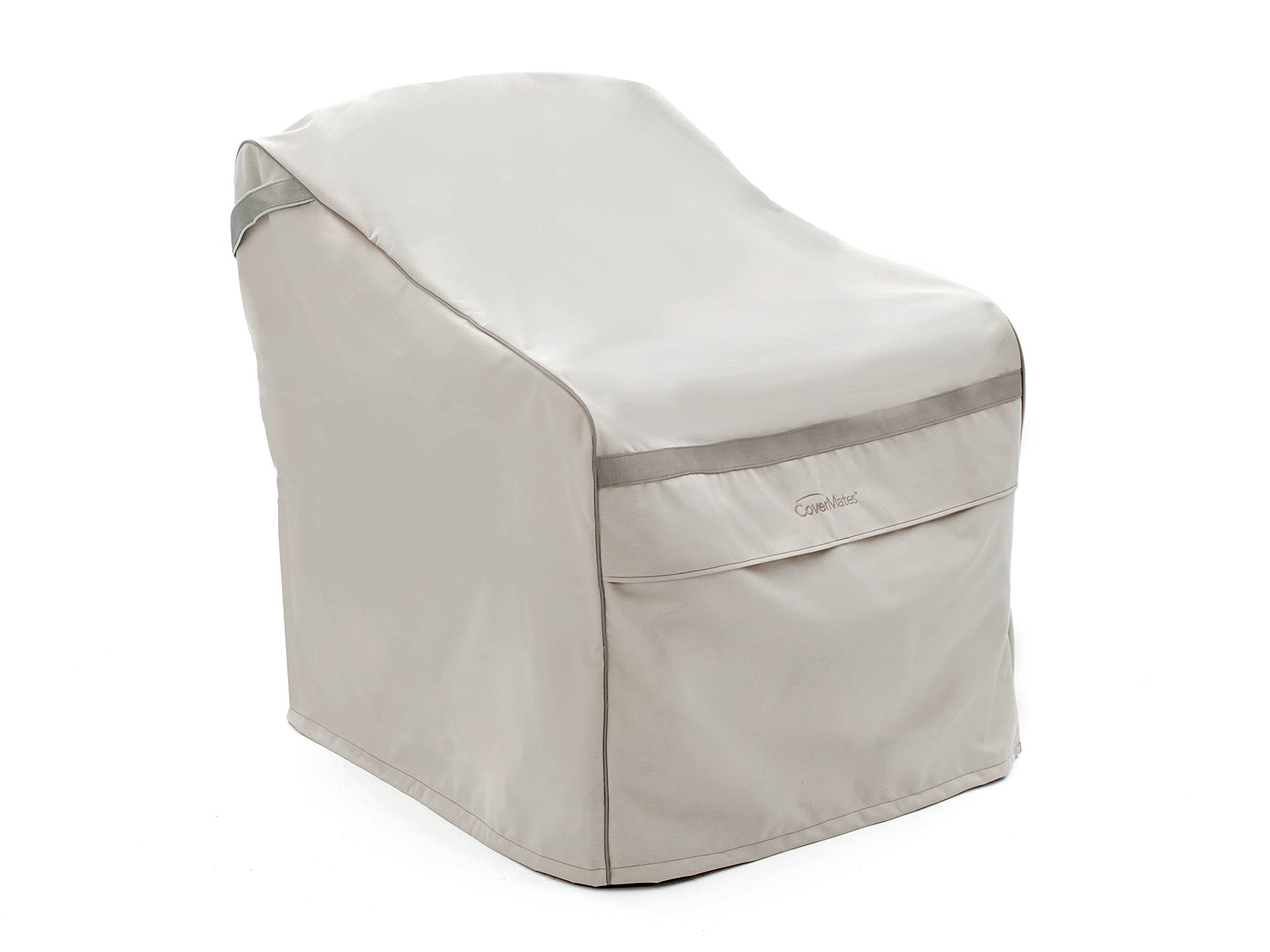 CoverMates – Outdoor Chair Cover – 46W x 32D x 42H – Prestige Collection – 7 YR Warranty – Year Around Protection - Stone