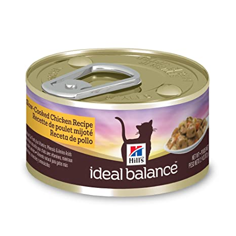 HillS Ideal Balance Adult Wet Cat Food, Slow-Cooked Chicken Recipe Canned Cat Food
