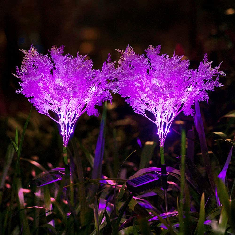 Neporal Solar-Garden-Lights-Outdoor-Decorative, Solar Flowers, 2 Pack Garden Lights Solar Powered IP65 Waterproof Solar Stake Lights Outdoor Decorative Garden Decor for Yard Patio Garden Pathway(Pink