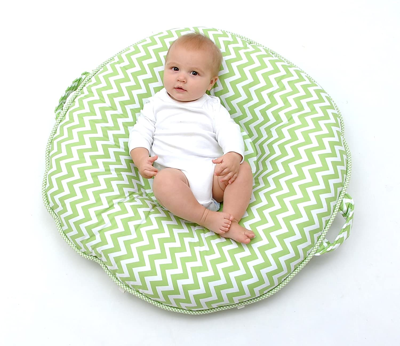 amazoncom  pello multiuse luxe babytoddler floor pillowplay  - amazoncom  pello multiuse luxe babytoddler floor pillowplay matloungerpeaksgreen  baby