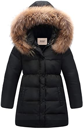 96eb041d60bf Amazon.com  ZOEREA Big Girls  Winter Parka Coat Puffer Jacket Padded ...