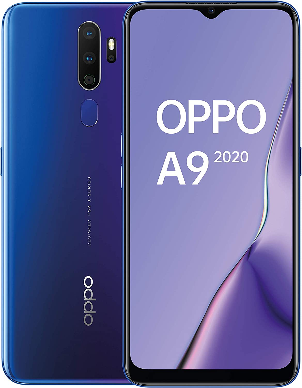 Oppo A9 2020 - Smartphone de 6.5'' HD+, 4G Dual SIM, 8 Core, 128 GB, 4 GB RAM, 48 + 8 + 2 + 2 MP, 16 MP, Púrpura Espacial