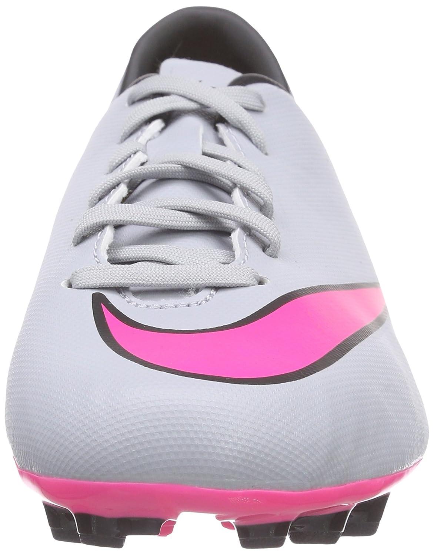 Nike Jr Mercurial Victory V FG, Jungen Fußballschuhe, Grau (Wolf Grey/Hyper Pink-Black-Black 060), 35.5 EU