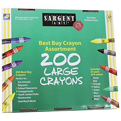 Sargent Art 200-Count Large Crayon Class Pack, Best Buy Assortment, 55-3225: Arts, Crafts & Sewing
