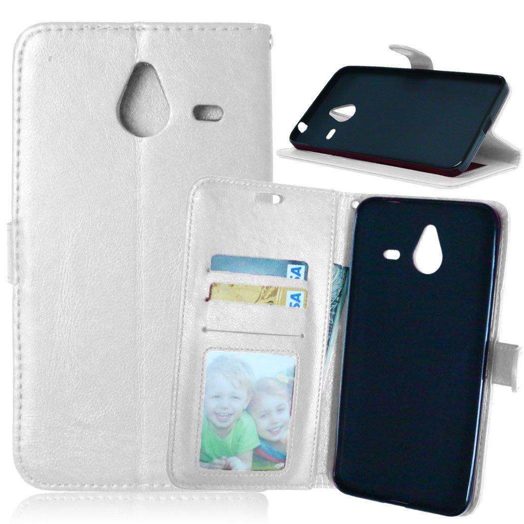 Lederh/ülle Style Acht Farbe Weich PU Flip Case Ledertasche//Schutz Etui Karten Slot Foto Wallet H/ülle Nancen Compatible with Handyh/ülle Nokia Microsoft Lumia 640 XL 5,7 Zoll