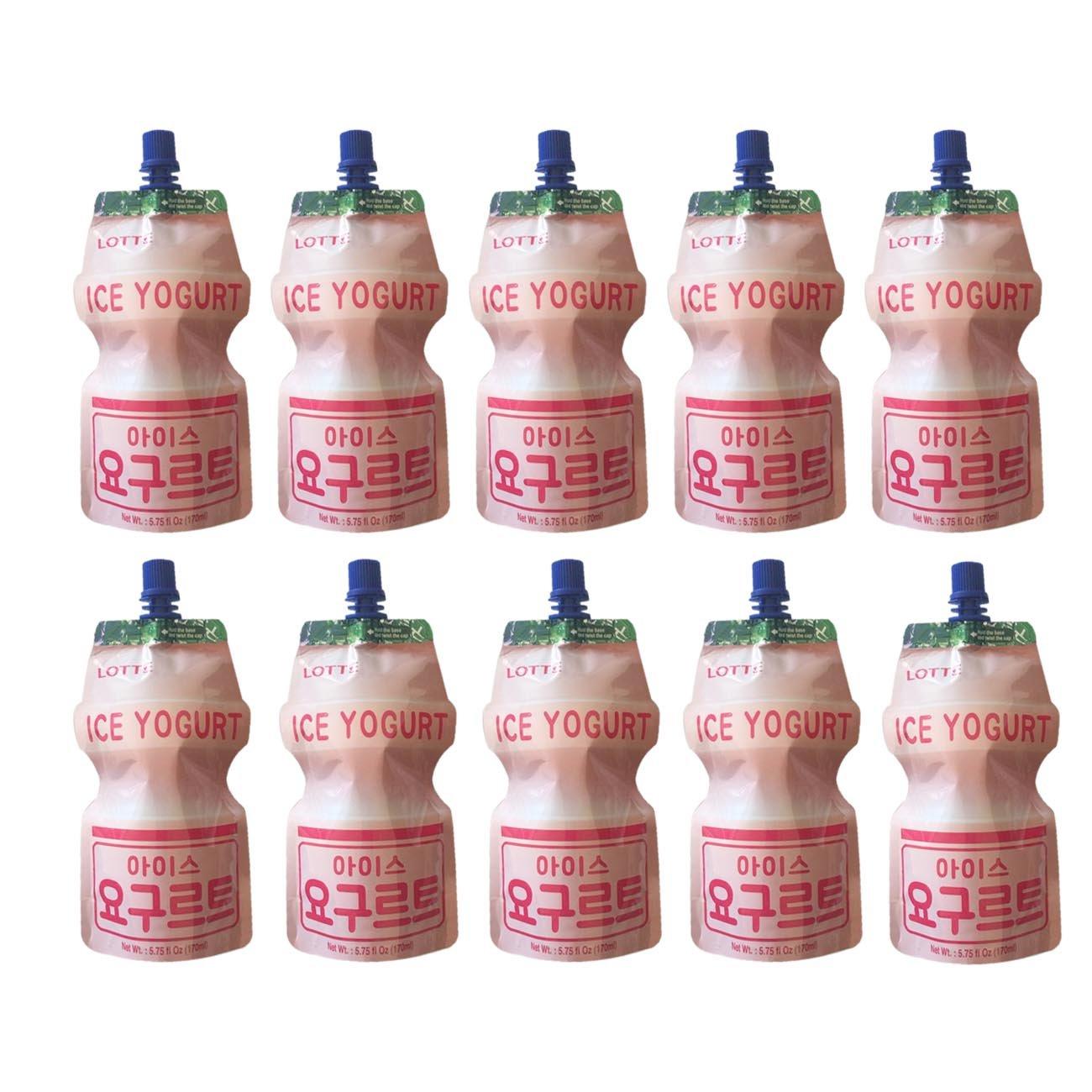 Korean Lotte Iced Yogurt Slush Packet 170ml (10 Pack)