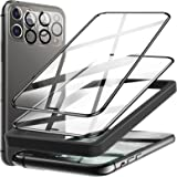 4 Pack LK 2 Pack Screen Protector + 2 Pack Camera Lens Protector Compatible with iPhone 11 Pro Max 6.5 inch, 9H Tempered Glas