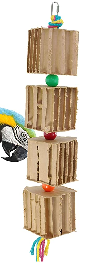 Bonka Bird Toys 50076 Large Big Blocks'n'Knots Bird Toy parrot cage toys cages preening amazon