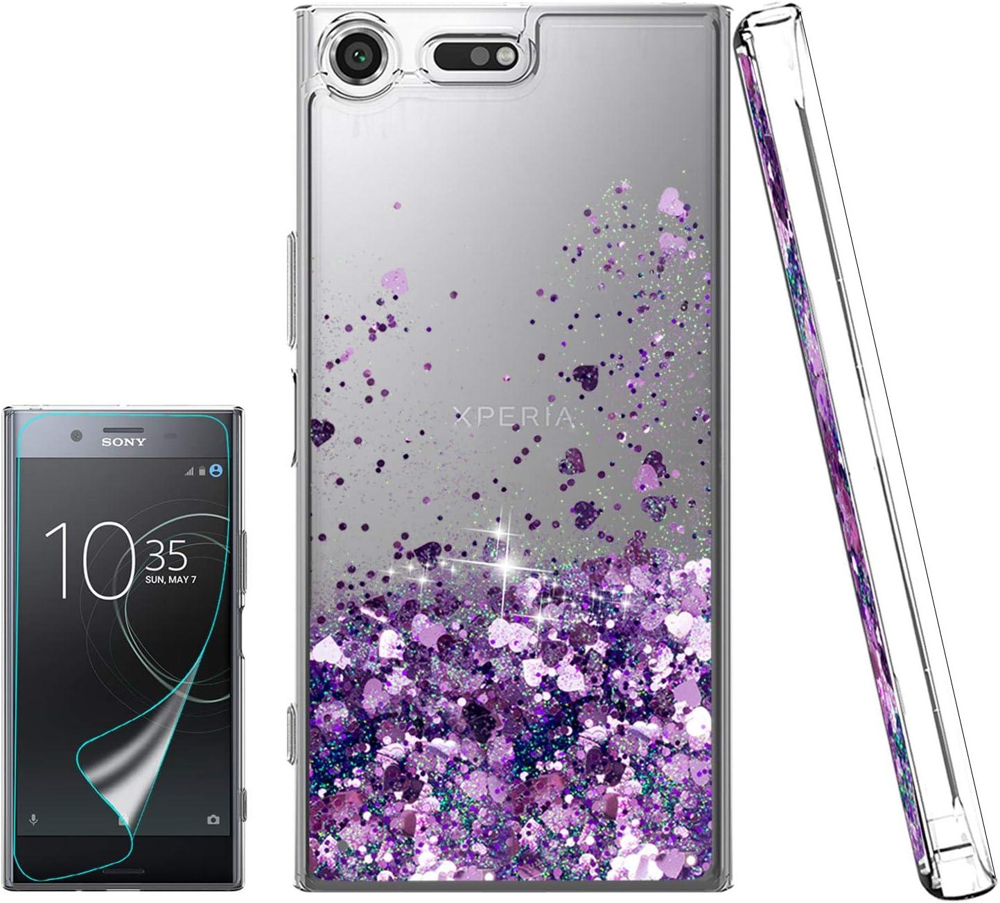 Atump Funda Sony Xperia XZ Premium Glitter Fundas Líquido Silicona ...
