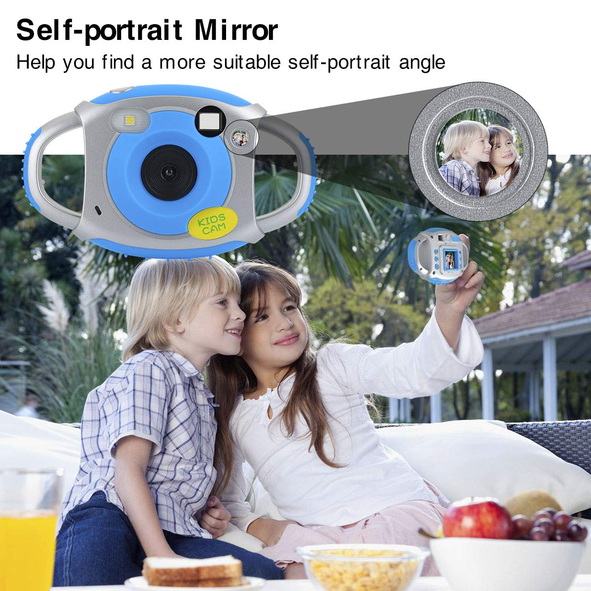 Funkprofi Kids Camera, Kids Digital Video Camera 5MP 1080P HD Recorder Camcorder with 32GB TF Memory Card, 1.77 Inch Screen, Funny Photo Frame, for Kids by Funkprofi (Image #6)