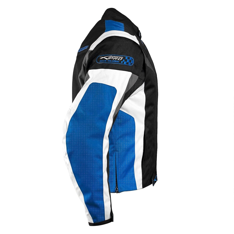 Blu giacca da motociclista CE con Protezioni termica L A-Pro