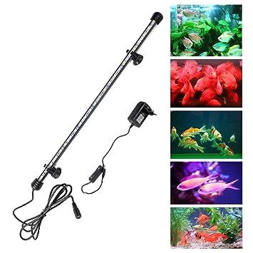 everbest4u Acuario LED luz lámpara SMD5050 luz para pecera Impermeable de EU Enchufe 58CM RGB IP68: Amazon.es: Productos para mascotas