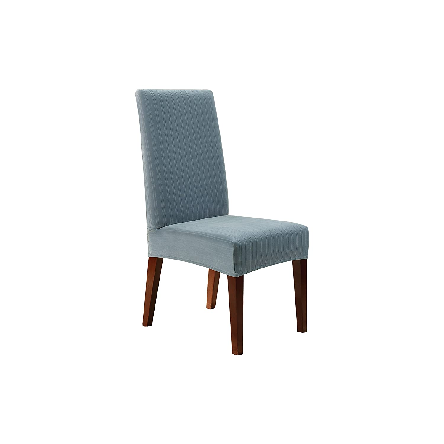 Amazon.com: Sure Fit Stretch Pinstripe   Shorty Dining Room Chair Slipcover    French Blue (SF37385): Kitchen U0026 Dining