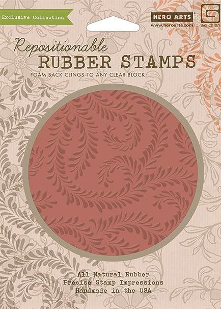 Hero Arts Rubber Stamps Indie Bloom Vine Background Cling Stamp Set