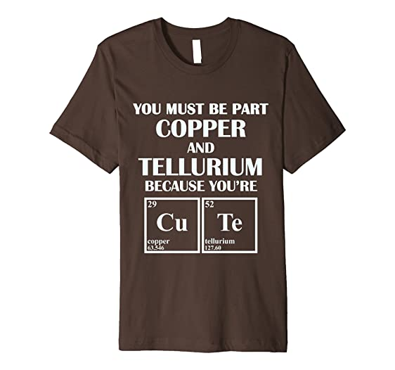 Amazon periodic table elements cute t shirt clothing mens periodic table elements cute t shirt 3xl brown urtaz Image collections