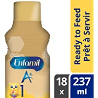 Enfamil A+ Infant Formula, Ready to Feed Bottles, 237mL, 18 pack