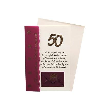 Tarjeta de felicitación/billete tarjeta 50 cumpleaños ...