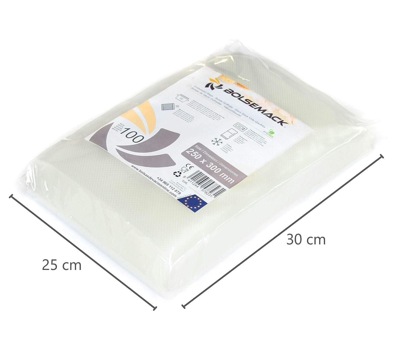 Bolsa gofrada envasado al vacío 25x30 cm.(100 Unidades): Amazon.es ...