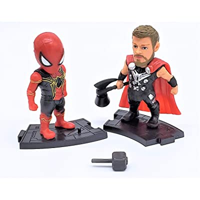 Prodigy Toys Thor Asgardian god of Thunder with Spiderman in his New Iron Spider Suit Collection: Toys & Games
