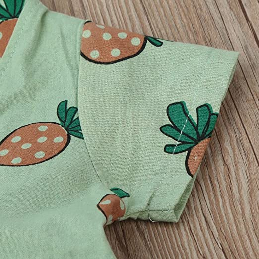 Digood for 0-3 Years Old Baby Boy Newborn Baby Girl Boy Short Sleeve Fruit Print Jumpsuit Romper Outfit Clothes