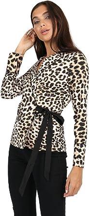 Momo&Ayat Fashions - Camisas - Blusa - Animal Print - Manga Larga - para Mujer Marrón Estampado De Leopardo 40 (EUR 40): Amazon.es: Ropa y accesorios