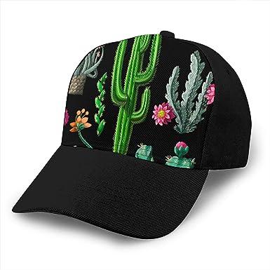 Gorra de béisbol de Patrones sin Fisuras con Cactus y Flores 3D ...