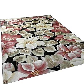 Moderno Abstract Alfombras alfombrillas Alfombras Mesa de café Alfombras Rosa material mullido Rectangular flores de corte ...
