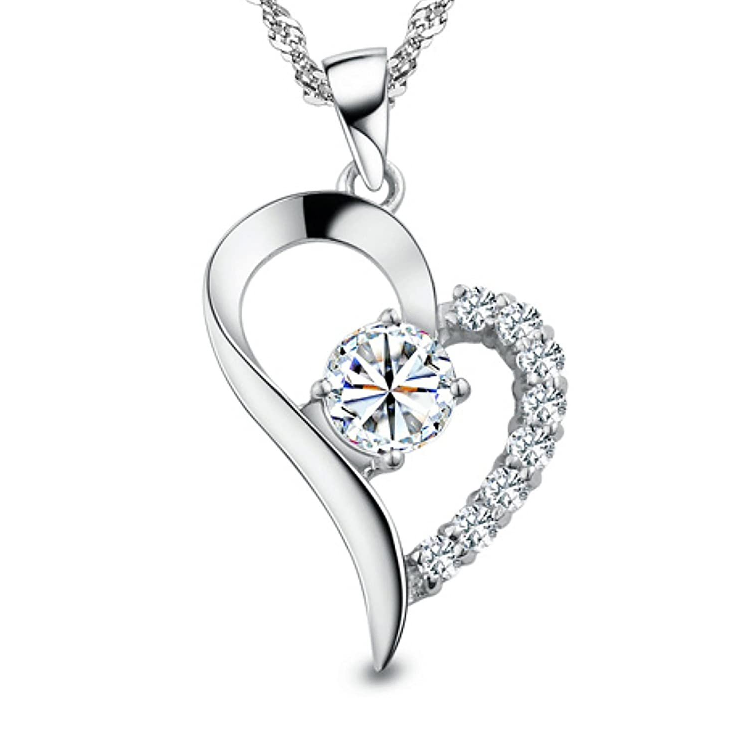 women for micro co pendants jewellery products necklace diamond classic if heart