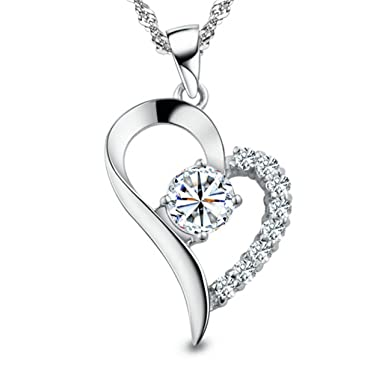 772e9d349 Amazon.com  You Are the Only One in My Heart Sterling Silver Pendant ...