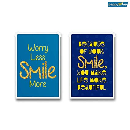 peppystop motivational posters worry less smile more smiley
