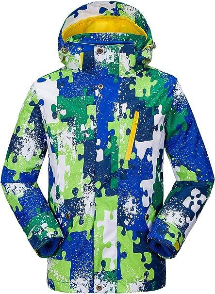 Diyo Boys Girls 3-in-1 Jacket Removable Fleece Lined Hoodies Coat Winter Waterproof Outdoor Coat Outwear