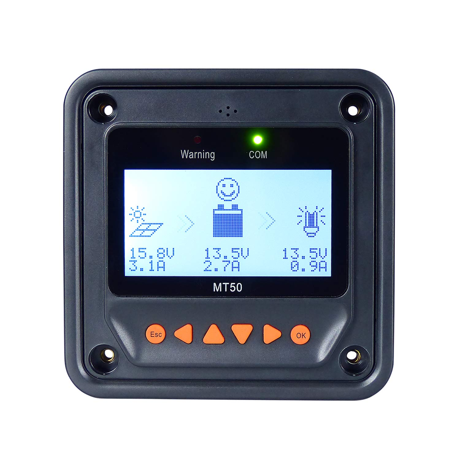 EPever Remote Meter MT50 for MPPT Solar Charge Controller LCD Display Monitoring Reading Datas Suitable for EPsolar Series Solar Regulator