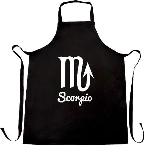 classic chef quality kitchen apron Scorpio zodiac bib apron horoscopesun sign cotton apron cookingbakingBBQ apron