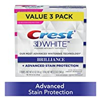 3 Pack Crest Toothpaste Brilliance Vibrant Peppermint 4.1oz