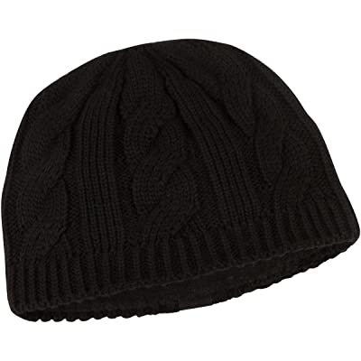 Peekaboos Ponytail Hats Women's Classic Cable Knit Ponytail Hat,  Eclipse/Black, Adult/