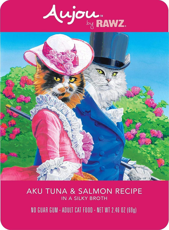 Rawz Aujou Aku Tuna & Salmon Cat Food 8/2.46 oz Pouches