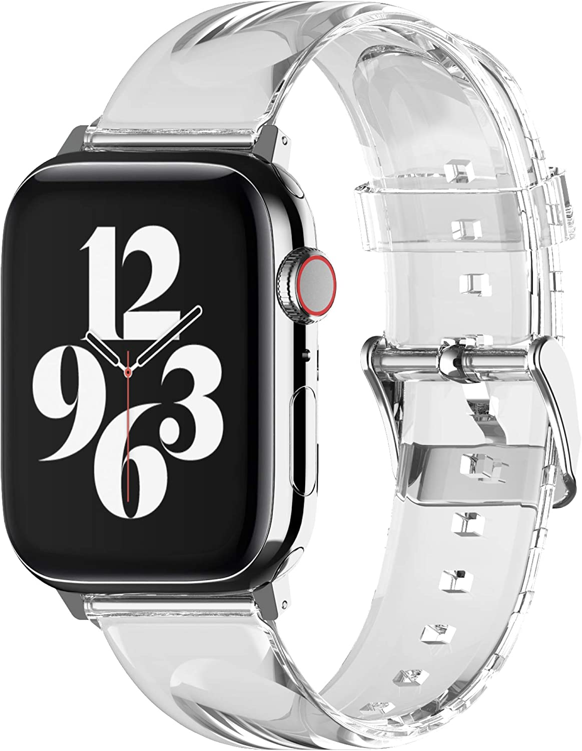elago Clear Band Compatible with Apple Watch Band 38mm 40mm 42mm 44mm, compatible with iwatch Series 6/SE/5/4/3/2/1 – Transparent Protective Band, Watch Strap Connector Included
