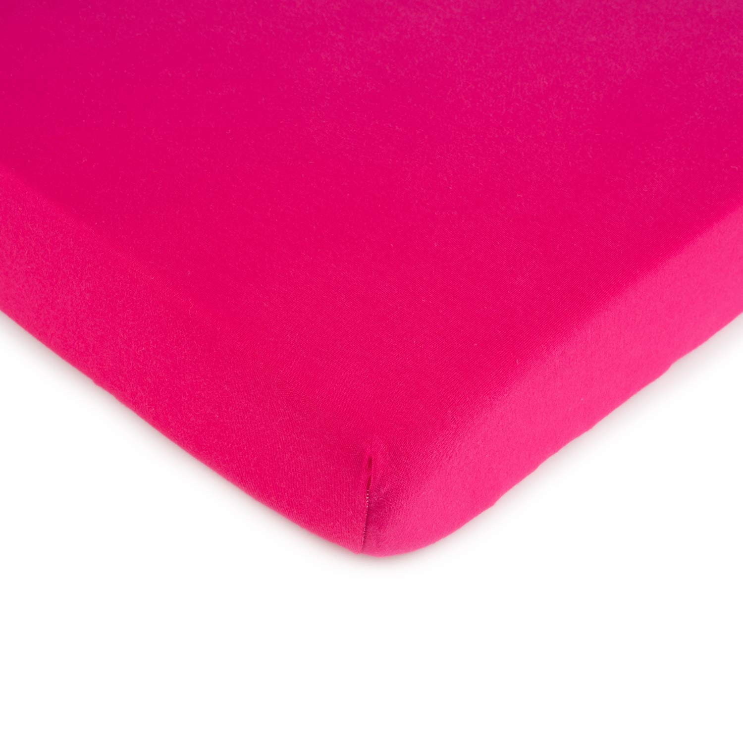 SheetWorld Fitted Square Playard Sheet 37.5 x 37.5 (Fits Joovy) - Hot Pink Jersey Knit - Made In USA by sheetworld   B00KC37DLO