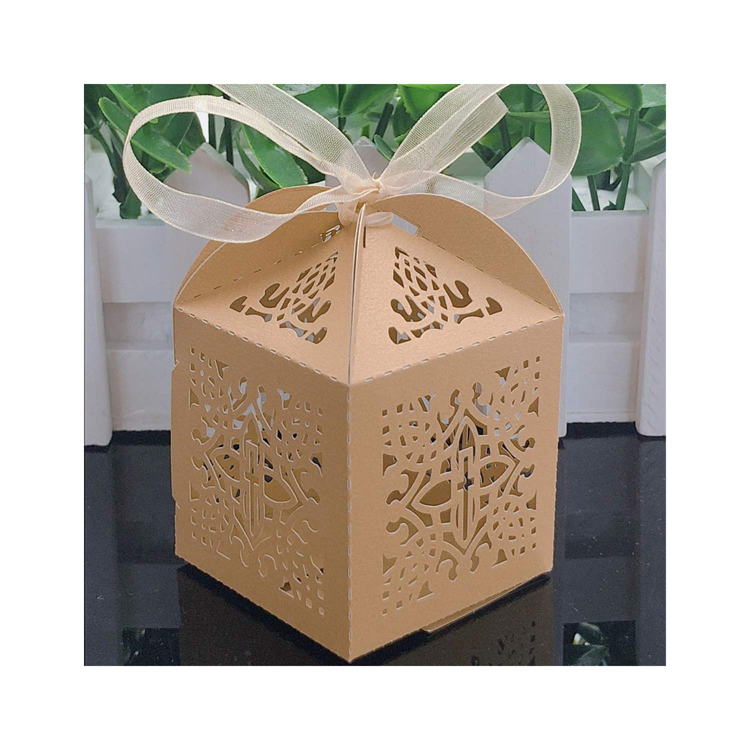 10PCS Baby Shower Favour Box Baptism Birthday Party Candy Boxes Christening Gift