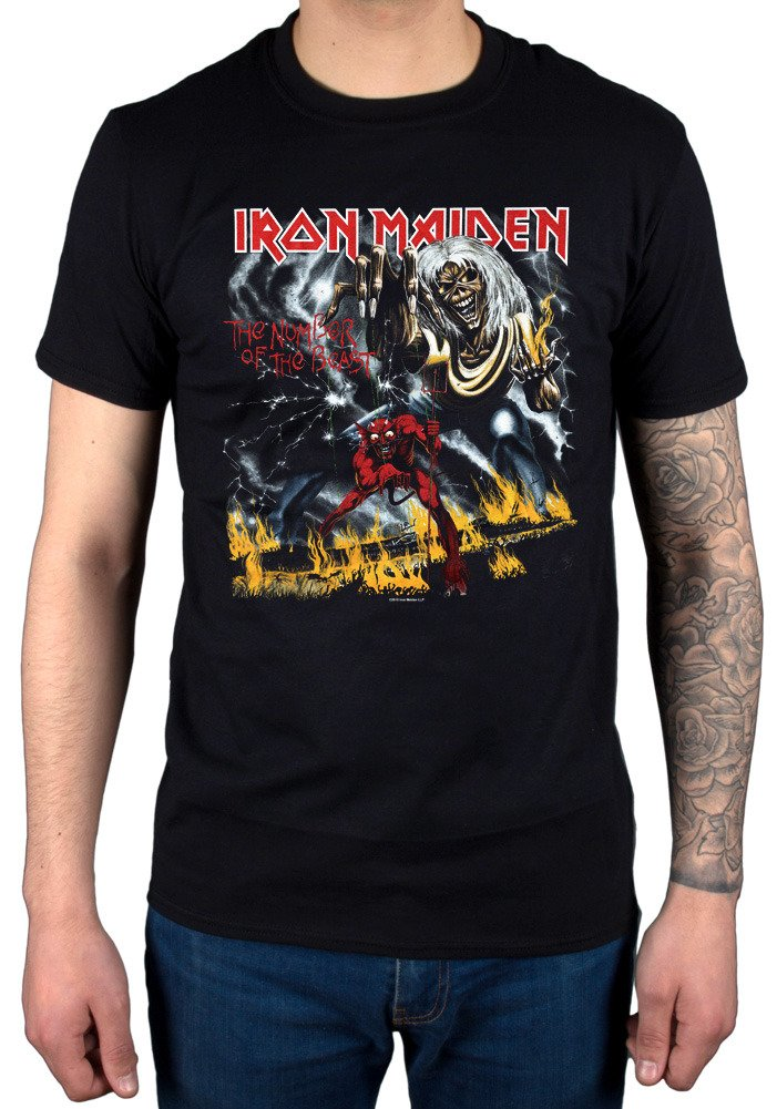 AWDIP Men's Official Iron Maiden Number of The Beast T-Shirt