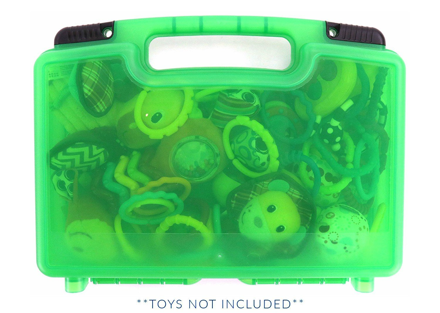 Baby Toy Case, Toy Storage Carrying Box. Figures Playset Organizer. Accessories for Kids by LMB