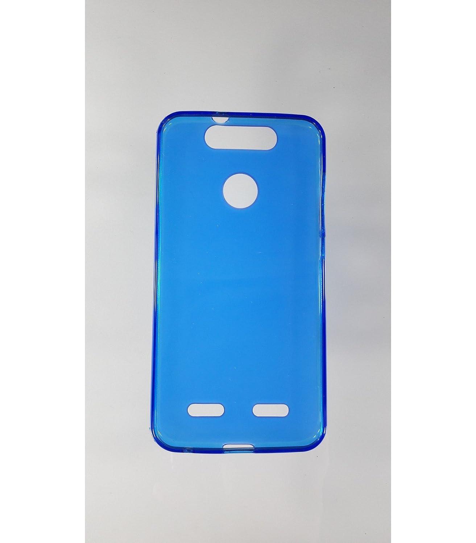 Funda de Gel TPU Carcasa Protectora Silicona para movil ZTE Blade V8 Lite Azul