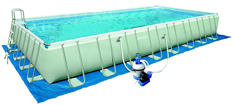 Intex 12-54986 Ultra Quadra III Frame Pool Set, 975 x 488 x 132 cm ...
