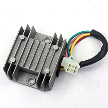 amazon com wingsmoto rectifier regulator 4 wires voltage atv gy6 wingsmoto rectifier regulator 4 wires voltage atv gy6 50 150cc scooter moped jcl nst taotao