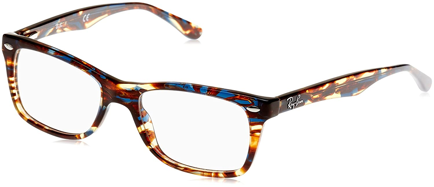 f88ac357b11517 Ray-Ban Women s 0RX 5228 5711 50 Optical Frames, Blue (Spotted  Blu Brown Yellow)  Amazon.co.uk  Clothing