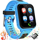 Kids Smart Watch for Boys Girls, Music Player, 14 Games, Voice Call, Calculator&Recorder, SOS Alerts Clock, Waterproof, Age 3